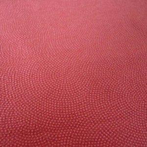 Photo3: Mandarin red/small dots make circle pattern - kimono fabric