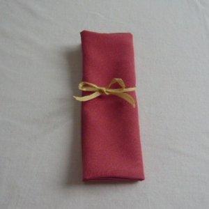 Photo1: Mandarin red/small dots make circle pattern - kimono fabric