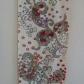 Modern design a piece of vintage kimono fabric