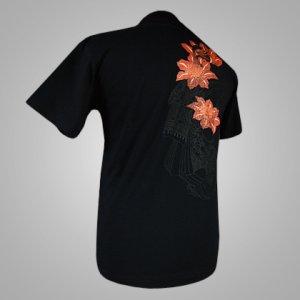 "Photo1: T-shirt ""Oiran"" Japanese style"