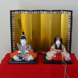 "Photo1: Japanese doll ""Kimekomi Hina ningyo"""