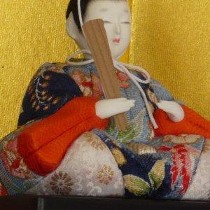 "Photo4: Japanese doll ""Kimekomi Hina ningyo"""