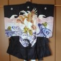 Dynamic eagle is embroidered, Vintage Kimono for boy