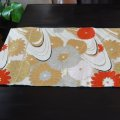 Flower & waves - a piece of Kimono obi fabric