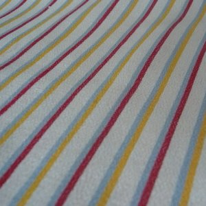 Photo3: Cute stripes kimono fabric -Silk cloth