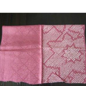 "Photo5: Pink ""Shibori""cloth - kimono fabric(small size)"