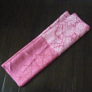 "Photo1: Pink ""Shibori""cloth - kimono fabric(small size)"